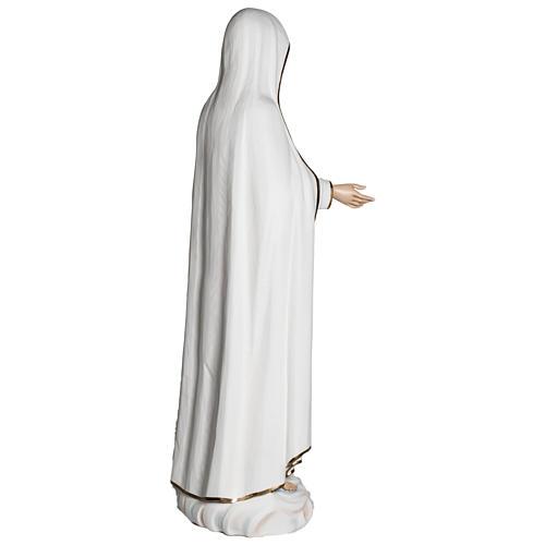 Nossa Senhora de Fátima 120 cm fibra de vidro PARA EXTERIOR 12