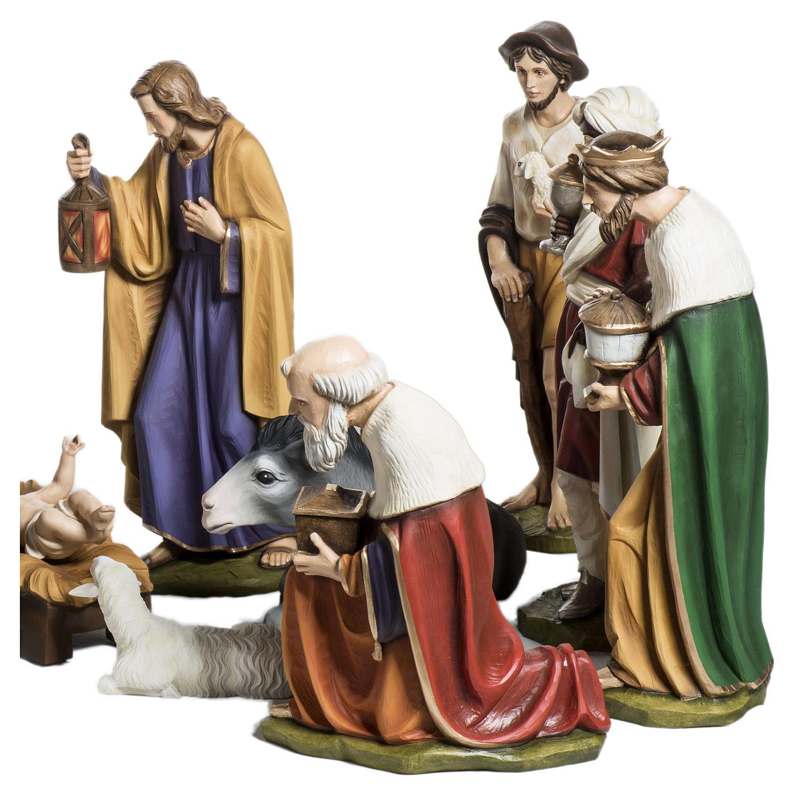 Presepe completo vetroresina 60 cm 15 statue PER ESTERNO 4