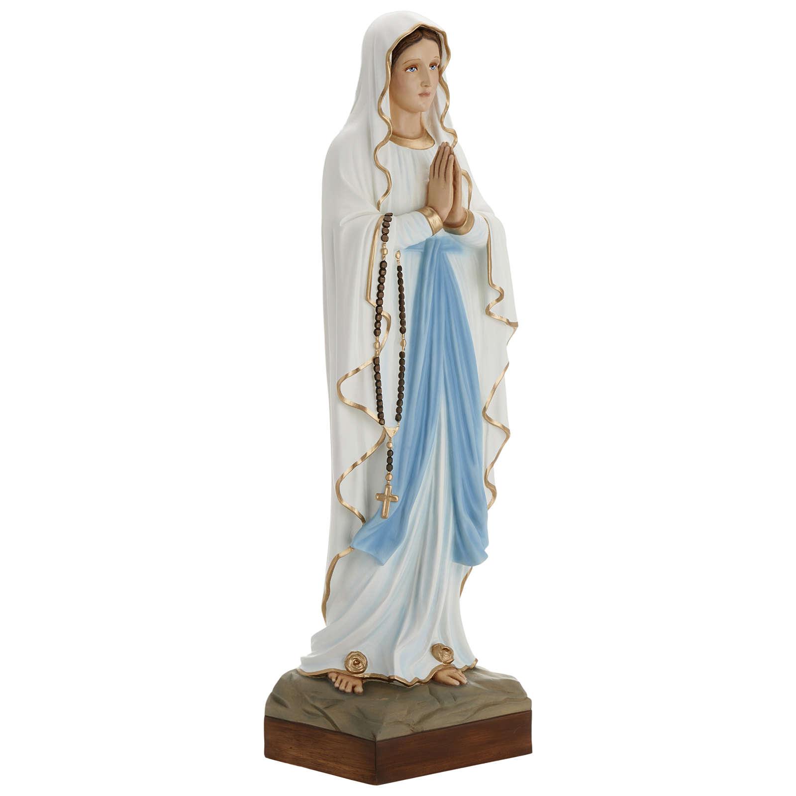 Statue Notre-Dame de Lourdes 85 cm en fibre de verre POUR EXTÉRIEUR 4