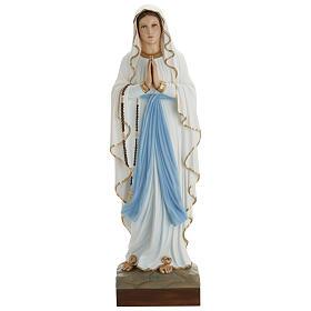 Statue Notre-Dame de Lourdes 85 cm en fibre de verre POUR EXTÉRIEUR s1