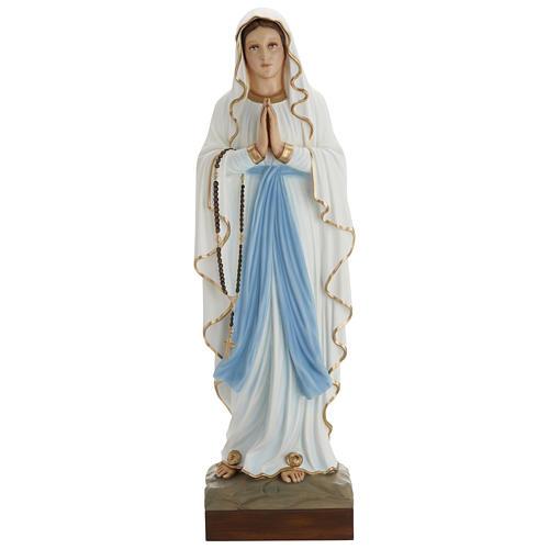 Statue Notre-Dame de Lourdes 85 cm en fibre de verre POUR EXTÉRIEUR 1