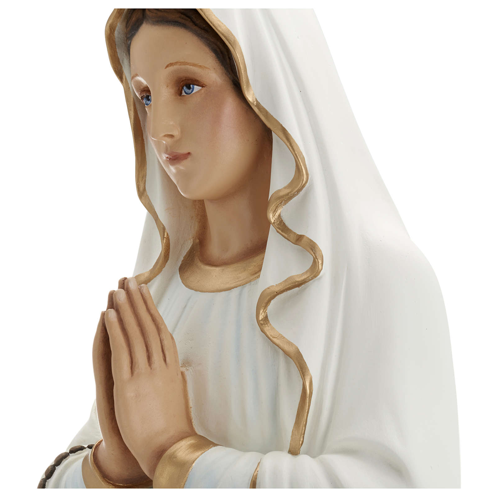 Our Lady of Lourdes Statue in Fiberglass, 85 cm FOR OUTDOORS 4