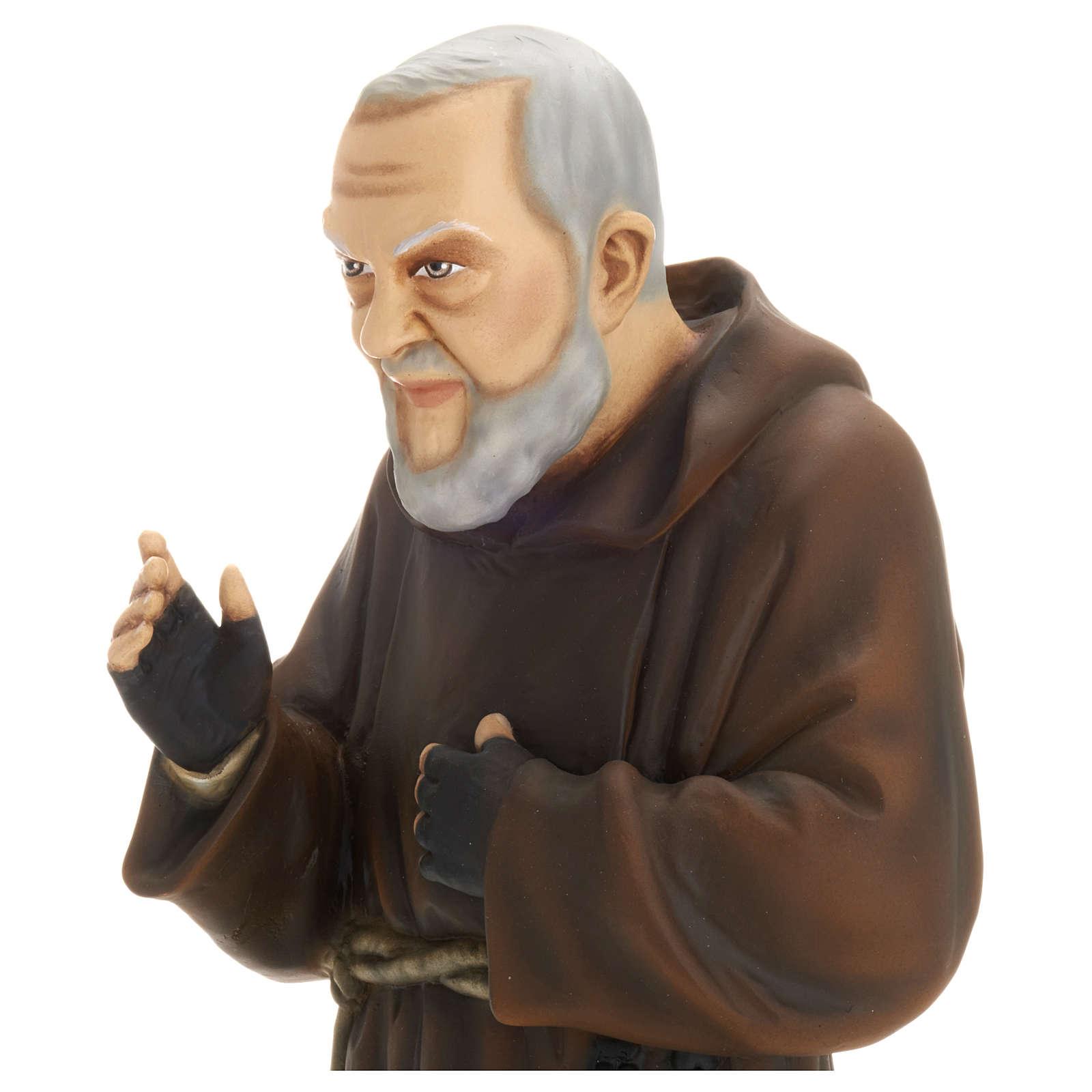 Saint Pio fibre de verre 60 cm POUR EXTÉRIEUR 4