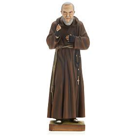 Saint Pio fibre de verre 60 cm POUR EXTÉRIEUR s1