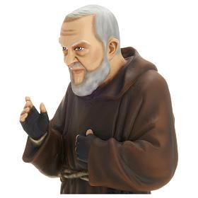 Saint Pio fibre de verre 60 cm POUR EXTÉRIEUR s2