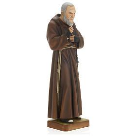 Saint Pio fibre de verre 60 cm POUR EXTÉRIEUR s3