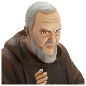Saint Pio fibre de verre 60 cm POUR EXTÉRIEUR s4