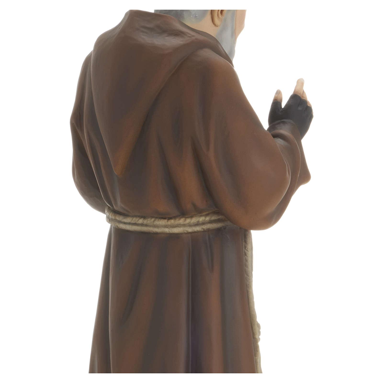 Statua Padre Pio vetroresina 60 cm PER ESTERNO 4