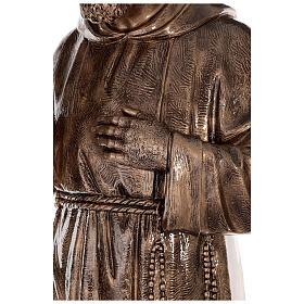 Statue Saint Pio fibre de verre patinée bronze 175 cm POUR EXTÉRIEUR s9