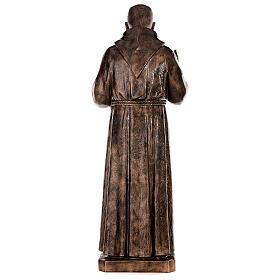 Statue Saint Pio fibre de verre patinée bronze 175 cm POUR EXTÉRIEUR s11