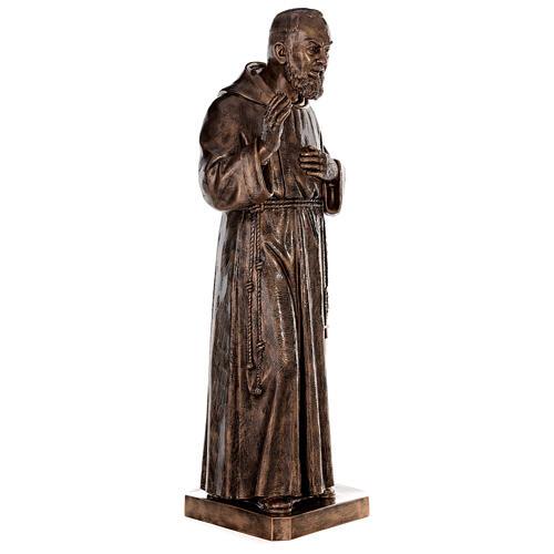 Statue Saint Pio fibre de verre patinée bronze 175 cm POUR EXTÉRIEUR 5