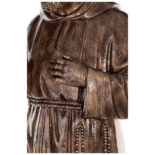 Statue Saint Pio fibre de verre patinée bronze 175 cm POUR EXTÉRIEUR 9