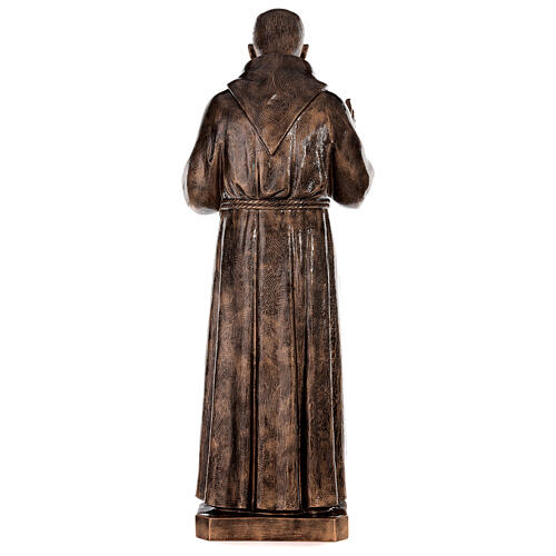 Statue Saint Pio fibre de verre patinée bronze 175 cm POUR EXTÉRIEUR 11