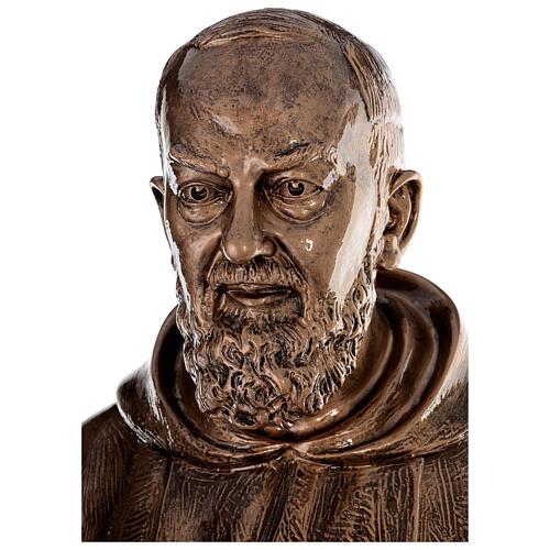 Statua San Pio vetroresina patinata bronzo 175 cm PER ESTERNO 4