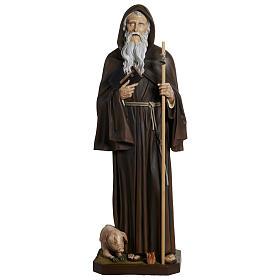 Estatua San Antonio Abad fibra de vidrio 160 cm PARA EXTERIOR