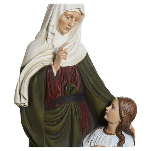 Statue of St. Anne in fibreglass 80 cm for EXTERNAL USE 9