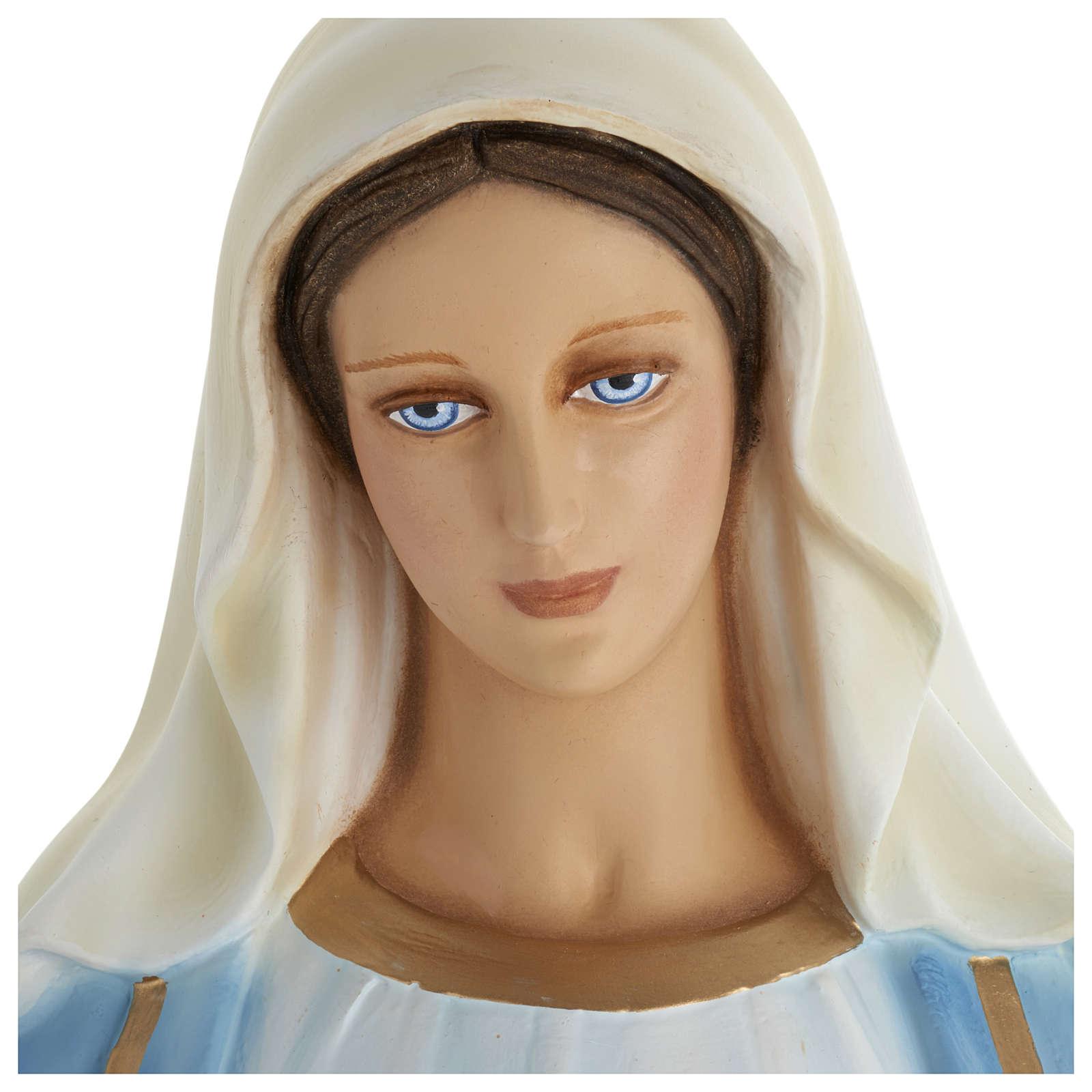 Estatua Virgen Inmaculada 100 cm fibra de vidrio PARA EXTERIOR 4