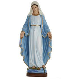 Estatua Virgen Inmaculada 100 cm fibra de vidrio PARA EXTERIOR s1