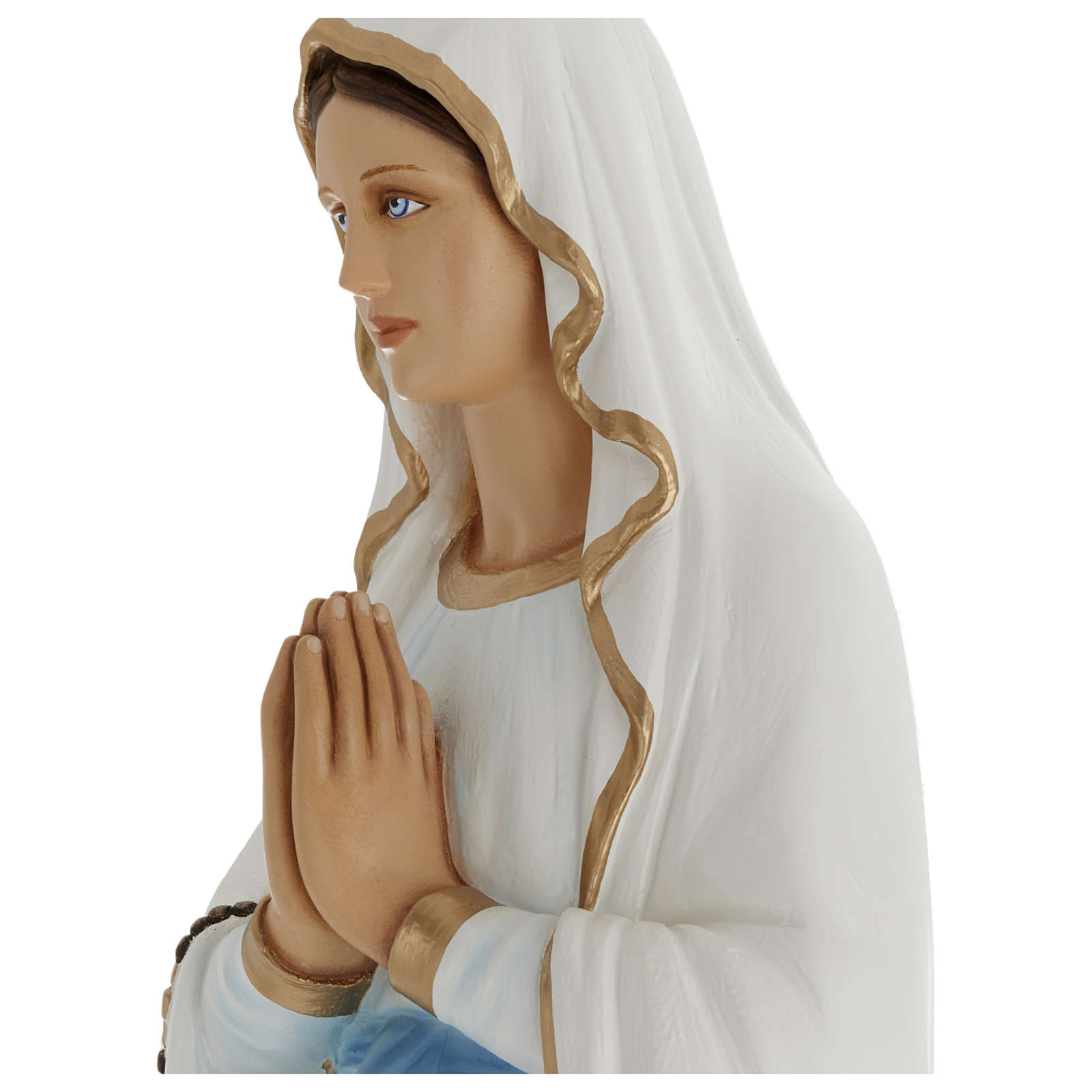 Estatua Virgen Lourdes 100 cm fibra de vidrio PARA EXTERIOR 4