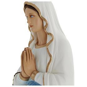 Estatua Virgen Lourdes 100 cm fibra de vidrio PARA EXTERIOR s5