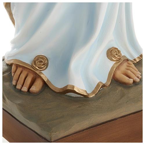 Estatua Virgen Lourdes 100 cm fibra de vidrio PARA EXTERIOR 6