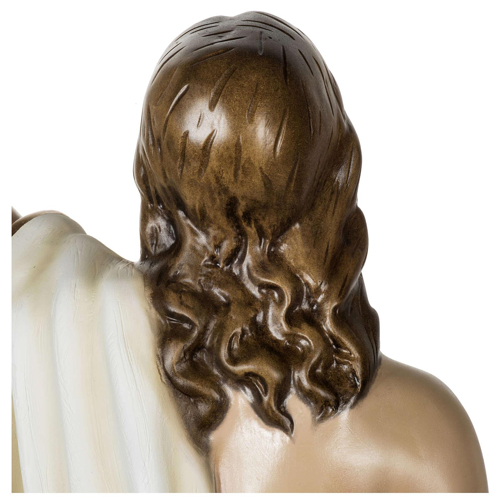 Statue Christ Ressuscité 100 cm fibre de verre POUR EXTÉRIEUR 4