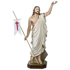 Statue Christ Ressuscité 100 cm fibre de verre POUR EXTÉRIEUR s1