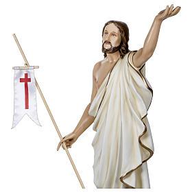 Statue Christ Ressuscité 100 cm fibre de verre POUR EXTÉRIEUR s5
