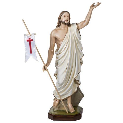 Statue Christ Ressuscité 100 cm fibre de verre POUR EXTÉRIEUR 1