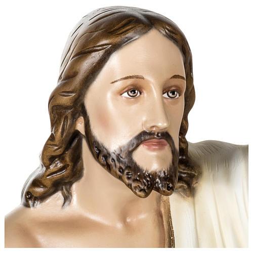 Statue Christ Ressuscité 100 cm fibre de verre POUR EXTÉRIEUR 2