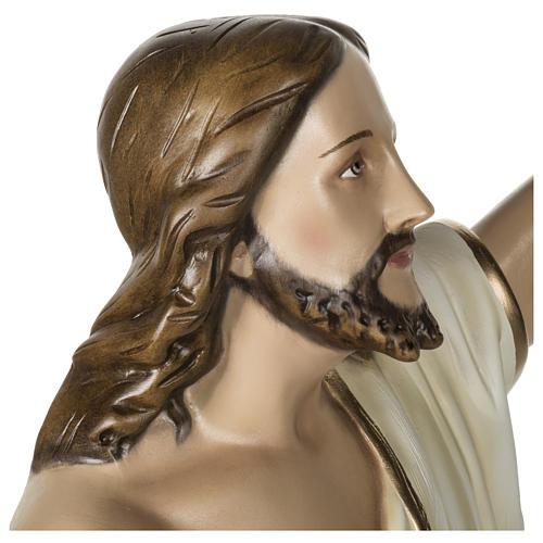Statue Christ Ressuscité 100 cm fibre de verre POUR EXTÉRIEUR 8