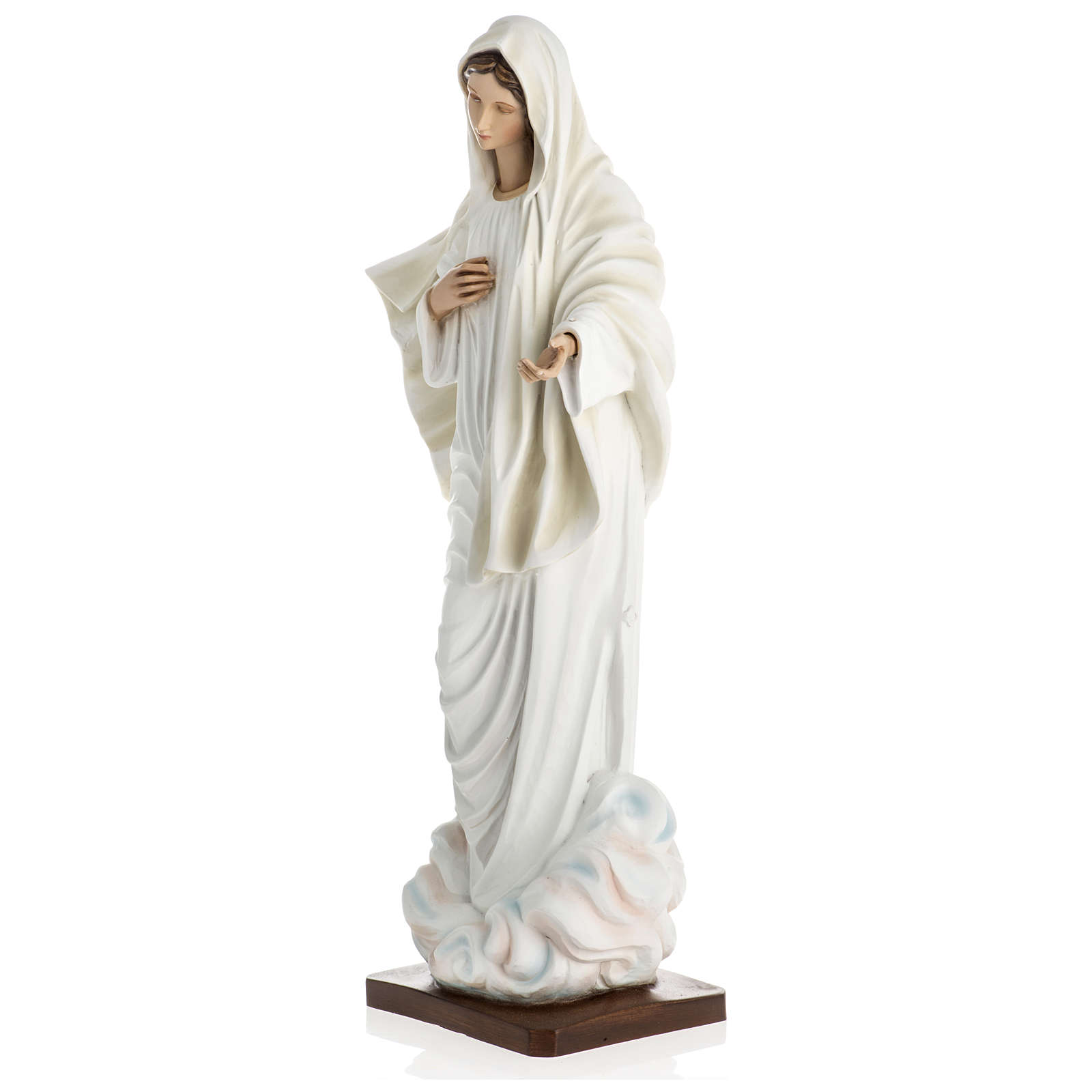 Virgen de Medjugorje fibra de vidrio 60 cm PARA EXTERIOR 4