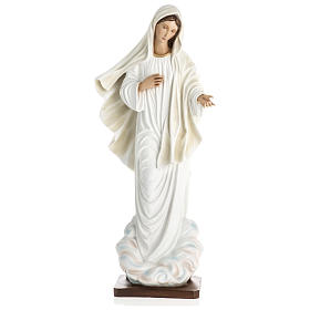 Virgen de Medjugorje fibra de vidrio 60 cm PARA EXTERIOR s1