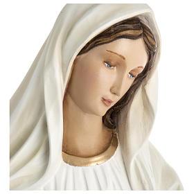 Virgen de Medjugorje fibra de vidrio 60 cm PARA EXTERIOR s4