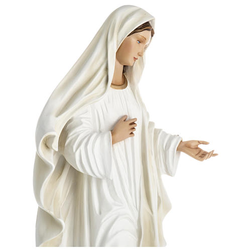 Virgen de Medjugorje fibra de vidrio 60 cm PARA EXTERIOR 6