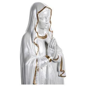 Statua Madonna di Lourdes vetroresina madreperlata oro 60 cm PER ESTERNO s3