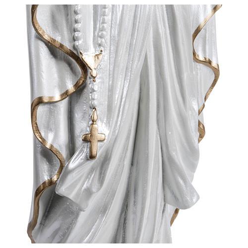 Statua Madonna di Lourdes vetroresina madreperlata oro 60 cm PER ESTERNO 4