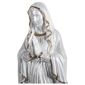 Nossa Senhora de Lourdes fibra vidro nacarada ouro 60 cm PARA EXTERIOR