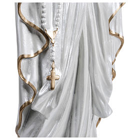 Our Lady of Lourdes Statue, 60 cm, in fiberglass, mother of pearl gold FOR OUTDOORS s4