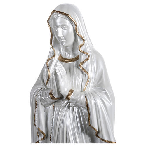 Our Lady of Lourdes Statue, 60 cm, in fiberglass, mother of pearl gold FOR OUTDOORS 2