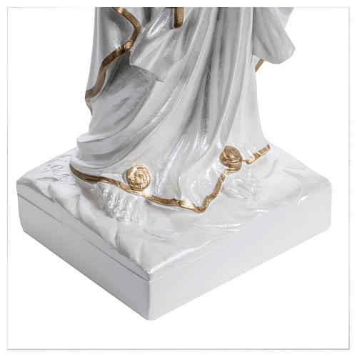 Our Lady of Lourdes Statue, 60 cm, in fiberglass, mother of pearl gold FOR OUTDOORS 5