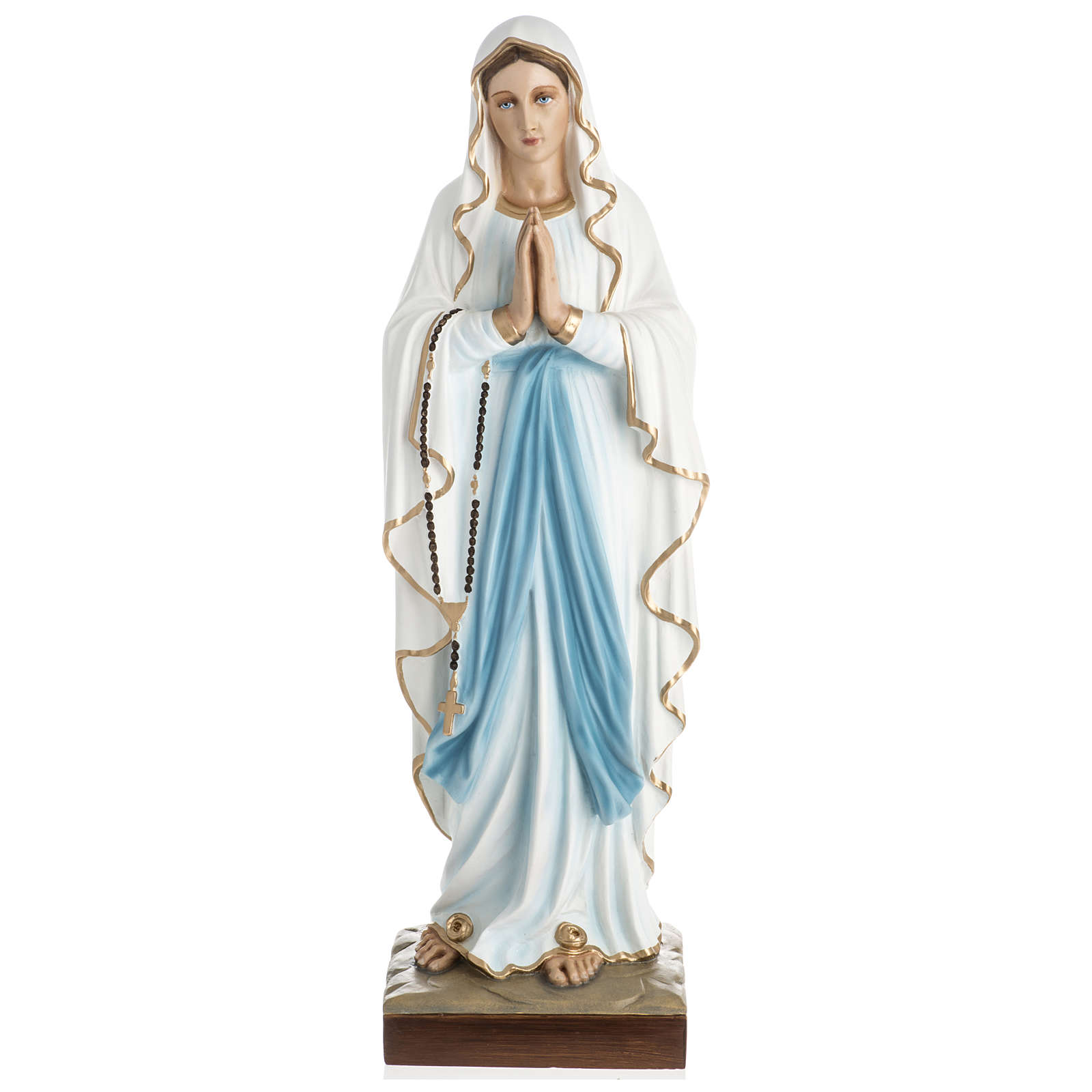 Statue of Our Lady of Lourdes in fibreglass 60 cm for EXTERNAL USE 4