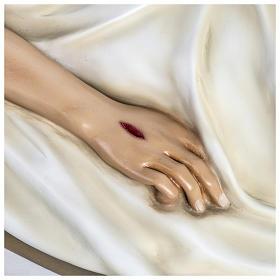 Gesù Morto 140 cm fibra di vetro colorata PER ESTERNO s4