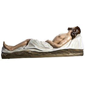Gesù Morto 140 cm fibra di vetro colorata PER ESTERNO s11
