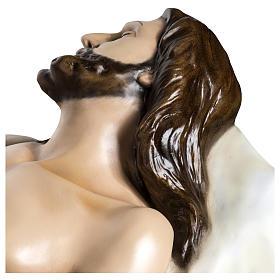 Gesù Morto 140 cm fibra di vetro colorata PER ESTERNO s12