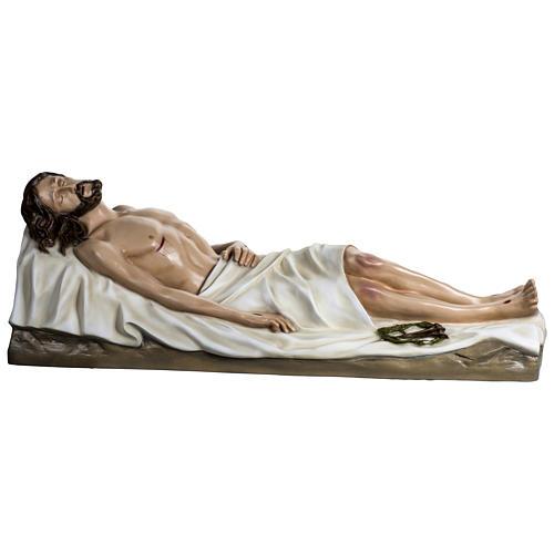 Gesù Morto 140 cm fibra di vetro colorata PER ESTERNO 1