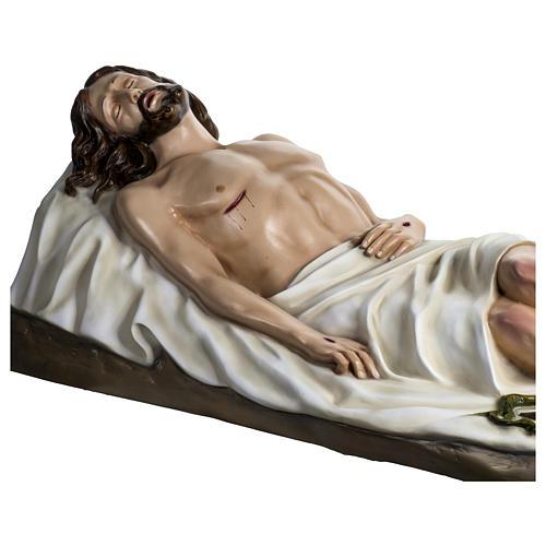 Gesù Morto 140 cm fibra di vetro colorata PER ESTERNO 8