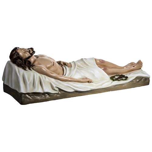 Gesù Morto 140 cm fibra di vetro colorata PER ESTERNO 10