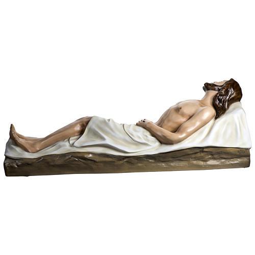 Gesù Morto 140 cm fibra di vetro colorata PER ESTERNO 11