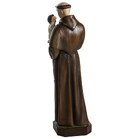 Statue of St. Anthony of Padua in coloured fibreglass 100 cm for EXTERNAL USE s12